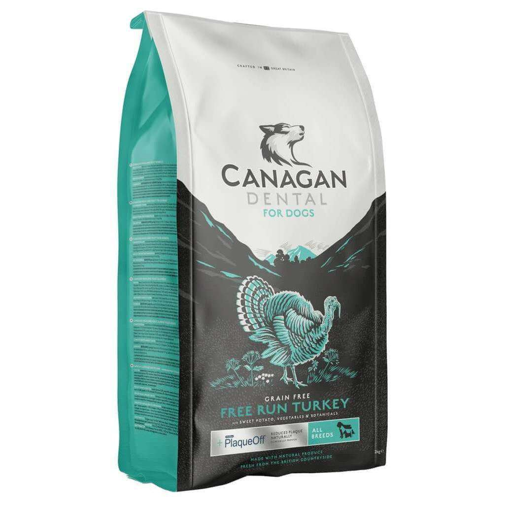 Canagan Free Run Turkey Dental Grain Free Dog Food-Dog Dry Food-Canagan-2kg-Dofos Pet Centre