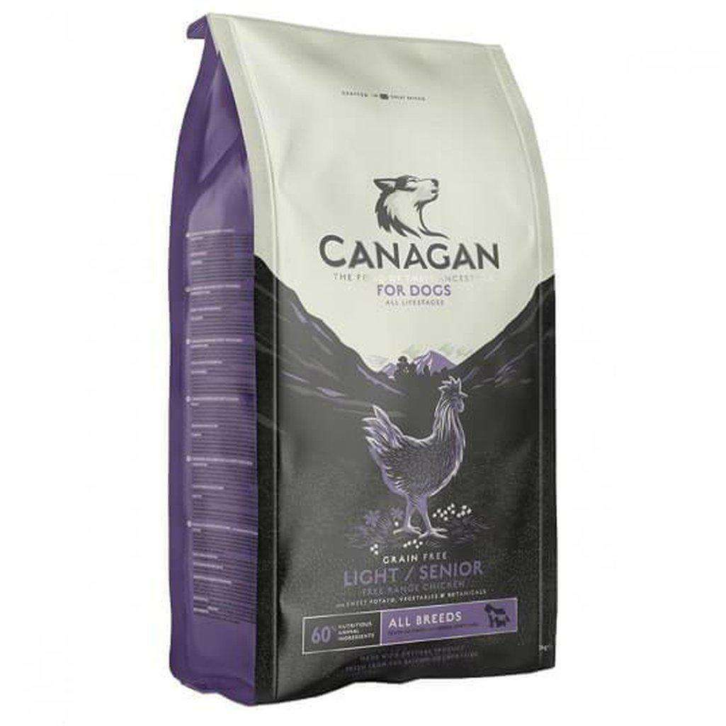 Canagan Light/Senior Free Run Chicken Grain Free Dog Food-Dog Dry Food-Canagan-2kg-Dofos Pet Centre
