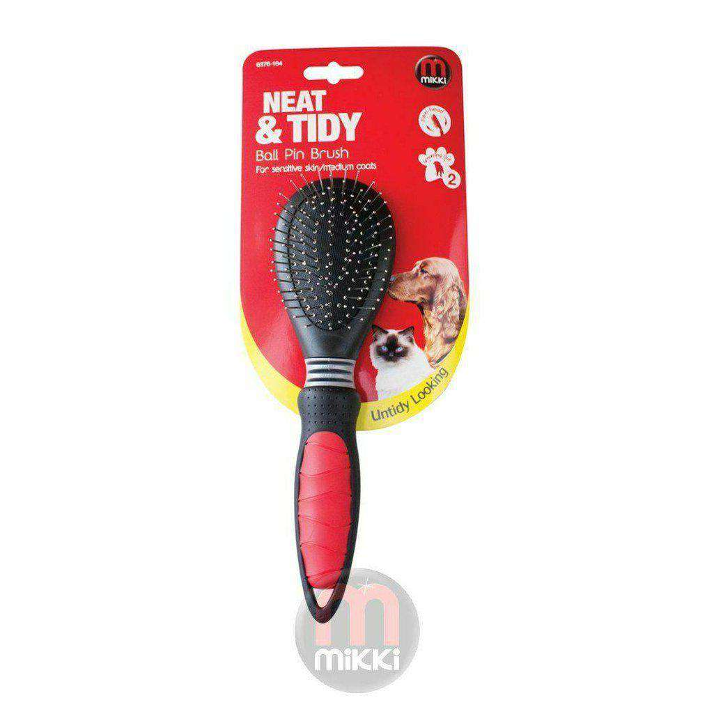 Mikki Ball Pin Brush-Dog Grooming-Mikki-Small-Dofos Pet Centre