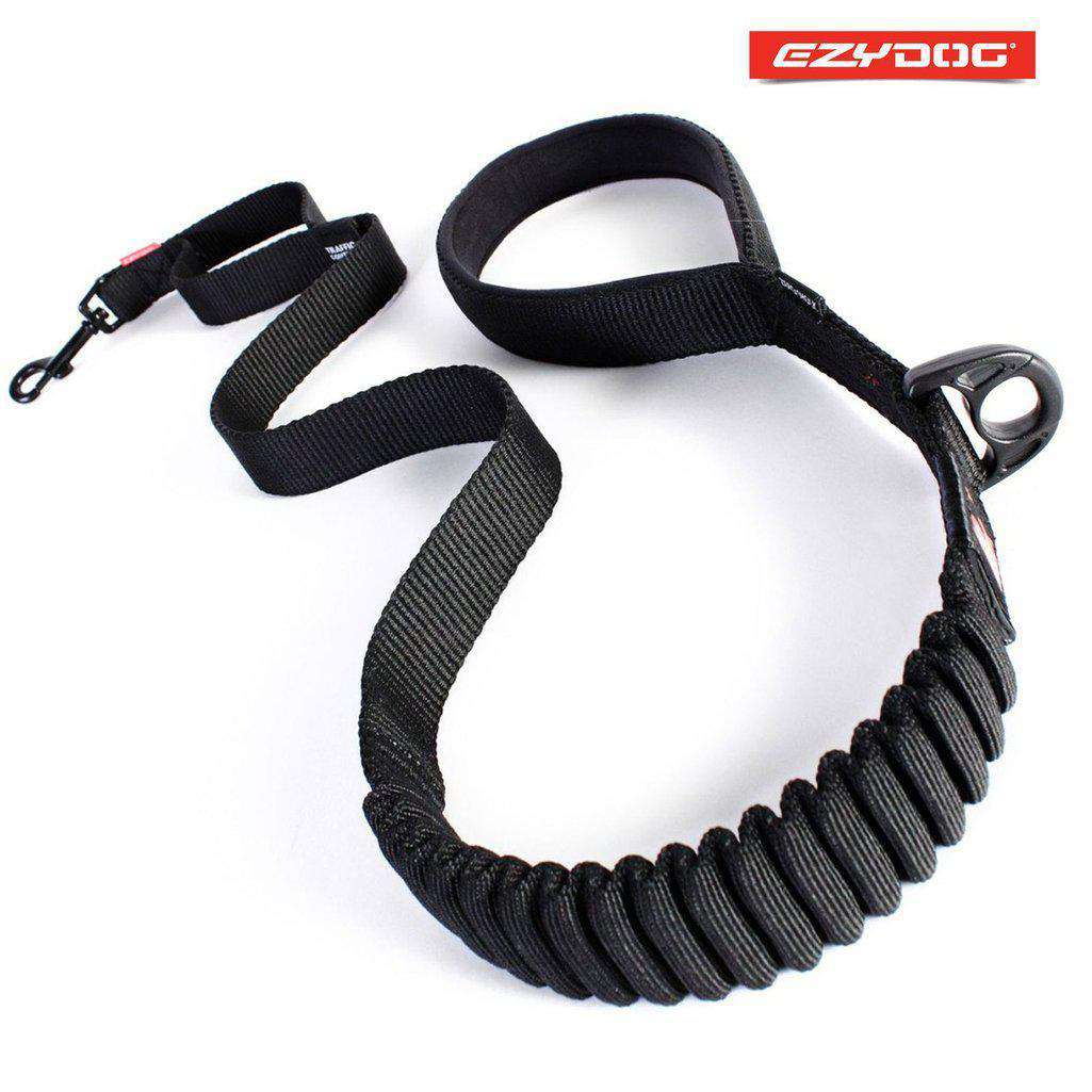 EzyDog Zero Shock Lead 48'' - All Colours-Dog Lead-Ezydog-Black-Dofos Pet Centre