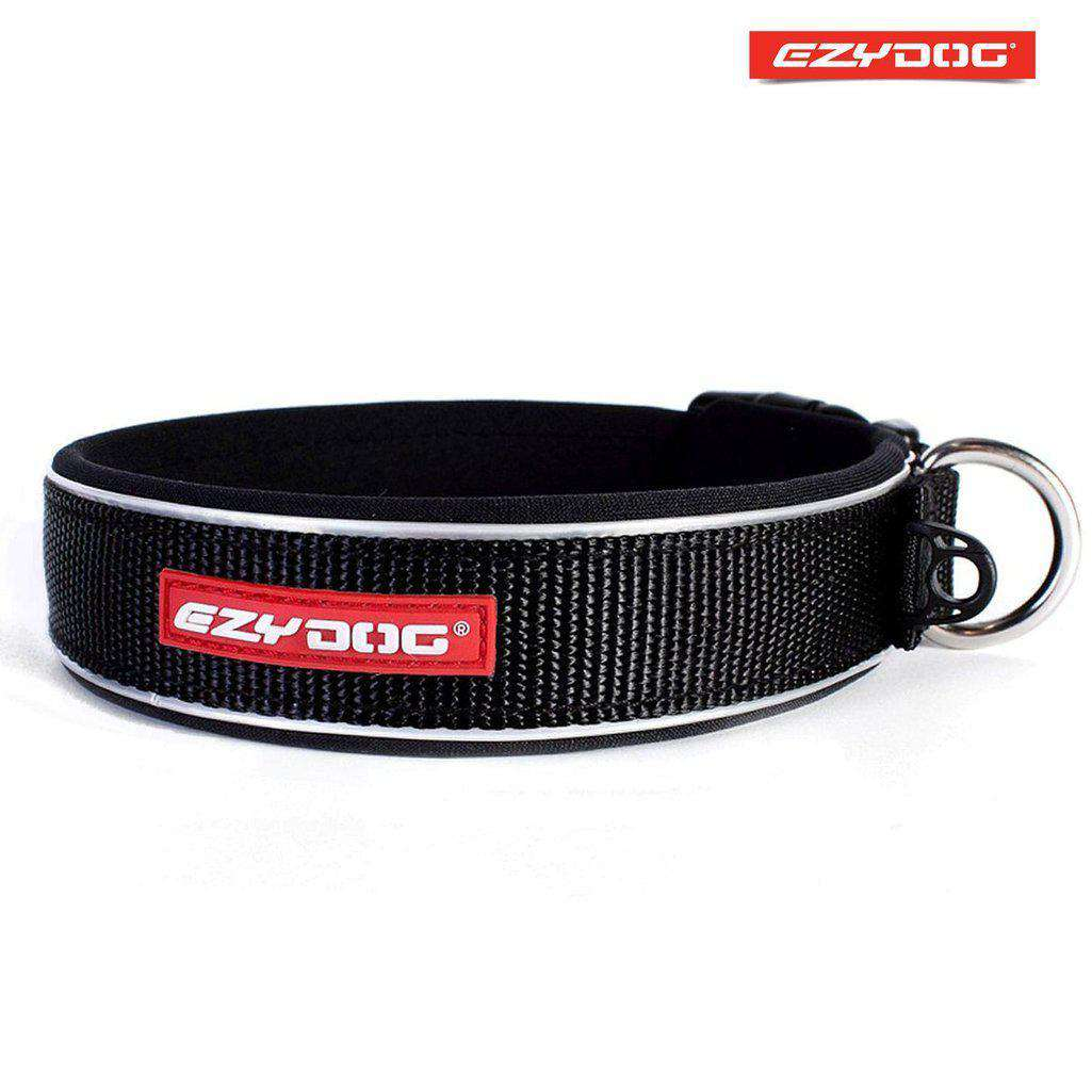 EzyDog Neo Classic Dog Collar- All Colours-Dog Collar-Ezydog-Xs-Black-Dofos Pet Centre
