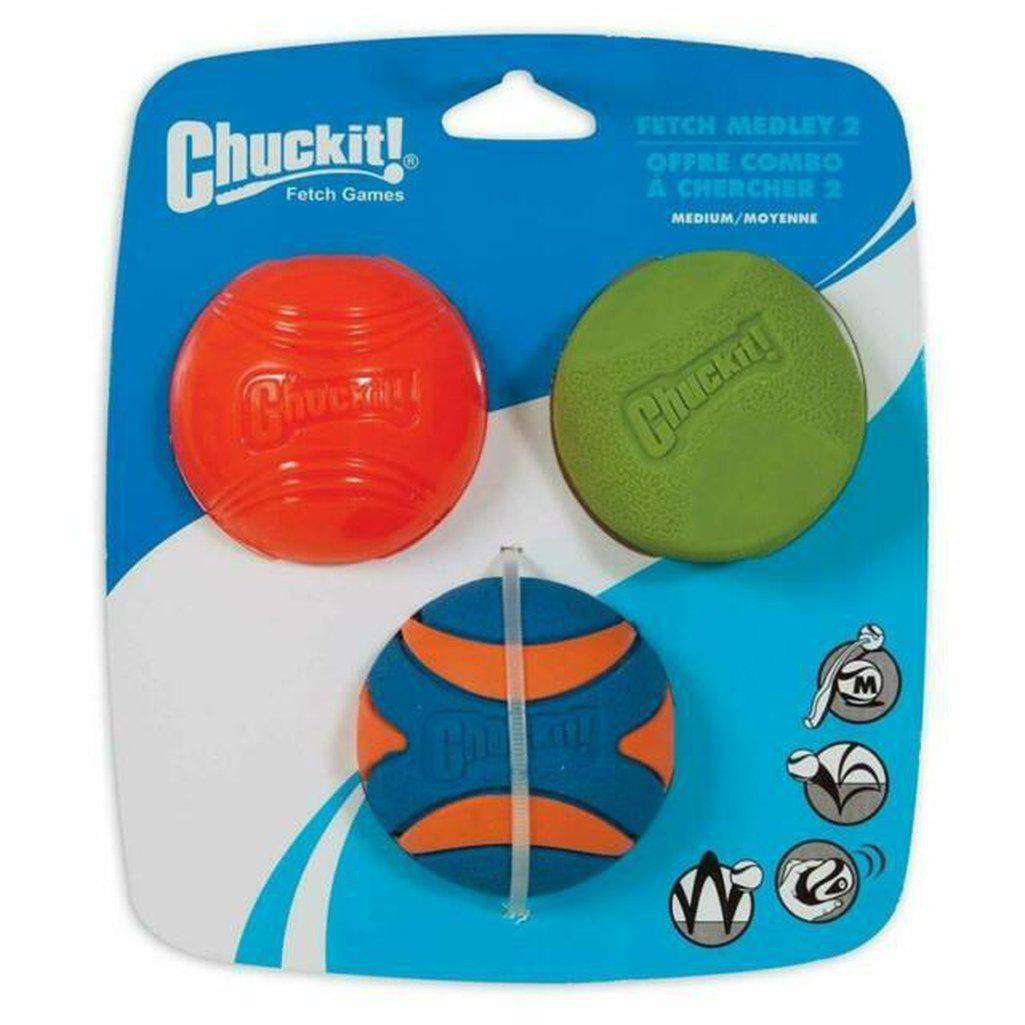 Chuckit Fetch Medley2 Medium Ball Dog Toy-Dog Toys-Chuckit-Dofos Pet Centre