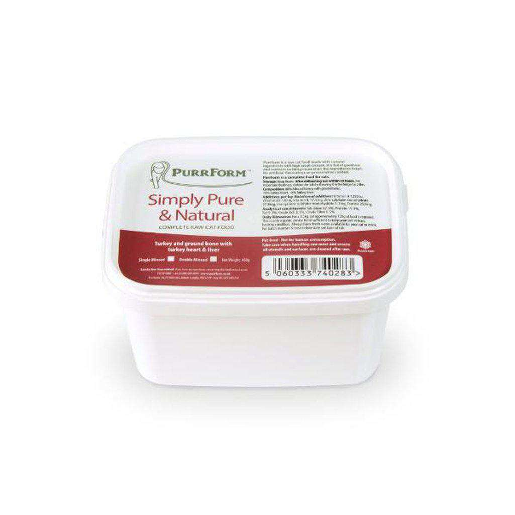 Purrform Minced Turkey and Ground Bone with Turkey Heart & Liver 450g-Raw Food-Dofos Pet Centre-Dofos Pet Centre