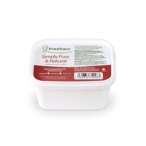 Purrform Minced Turkey and Ground Bone with Turkey Heart & Liver 450g