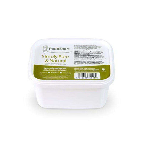 Purrform Minced Minced Raw Chicken and Ground Bone with Chicken Liver, Heart & Gizzard 450g