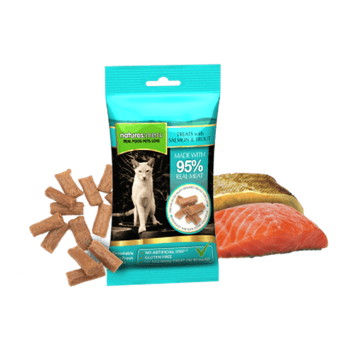 Natures Menu Real Meaty Salmon & Trout 60g Cat Treats