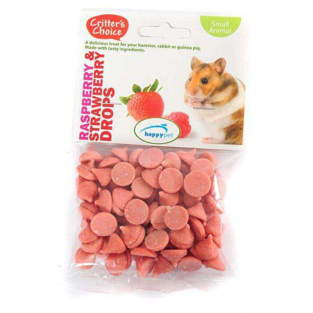 Critter's Choice Raspberry & Strawberry Drops 75g