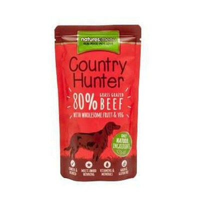 Natures Menu Country Hunter Grass Grazed Beef Dog Food Pouch