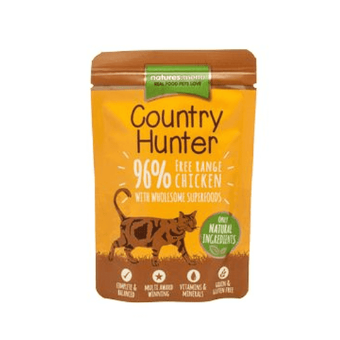 Natures Menu Natures Menu Country Hunter Chicken & Heart Pouch Wet Cat Food