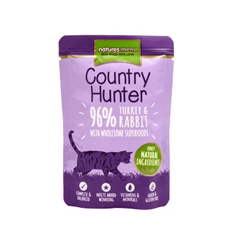 Natures Menu Country Hunter Turkey & Rabbit Pouch Wet Cat Food