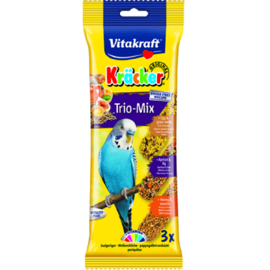 Vitakraft Parakeet Trio Mix Sticks 60g-Bird Treats-Vitakraft-Dofos Pet Centre