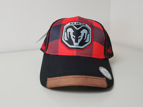 RAM Trucks Plaid Baseball Cap CLEARANCE