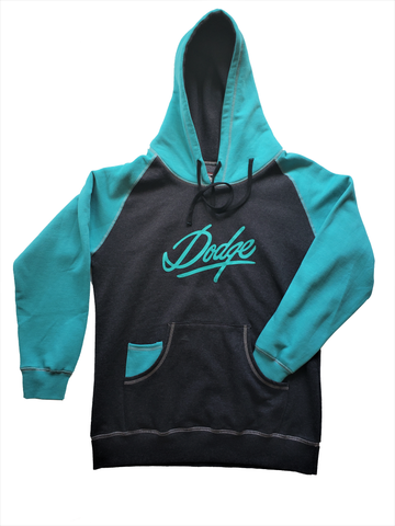 Dodge Ladies Blue and Grey Hoodie CLEARANCE