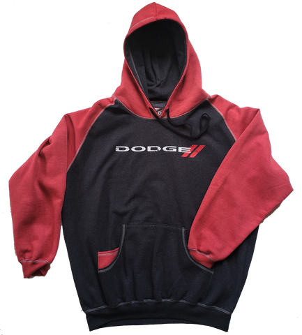 Dodge Pullover Hoodie Red and Black CLEARANCE