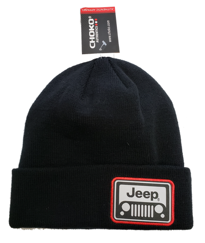 Jeep Grill in Red Beanie Toque CLEARANCE