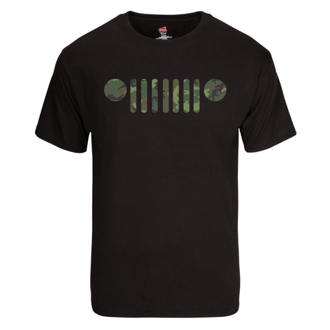 Jeep Logo in ERDL Lowland Camo T-Shirt