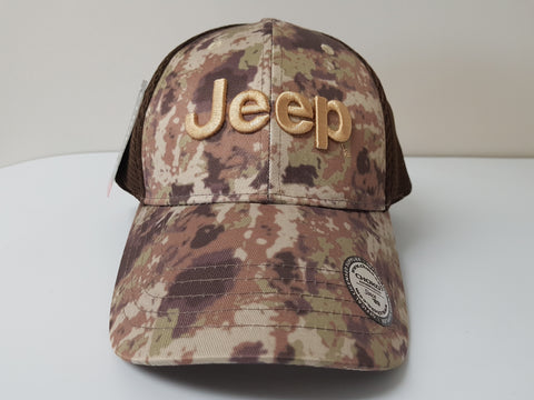 Abstract Desert Camo Jeep Baseball Cap
