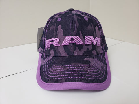 Ladies Denim Camo RAM Baseball Cap CLEARANCE