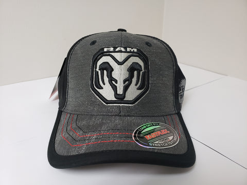 Canvas Black on Black RAM Power Baseball Cap
