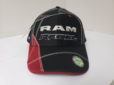 BACK IN STOCK! RAM Rebel Black/Camo Baseball Cap