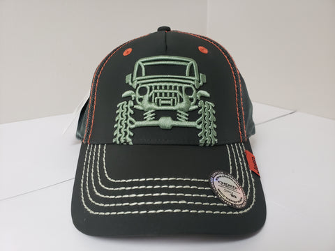 Jeep Wrangler 3D Black Baseball Cap