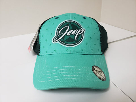 Ladies Woven Applique Jeep Baseball Cap CLEARANCE