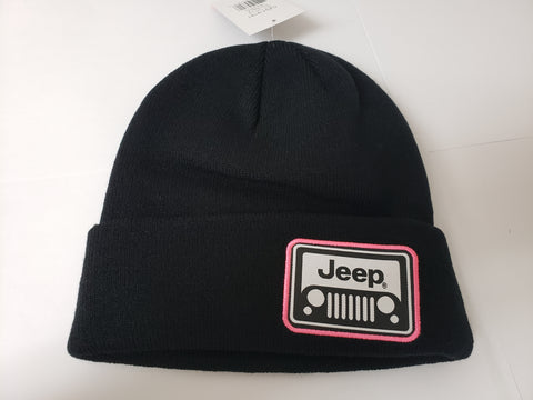 Jeep Grill Beanie Toque Pink