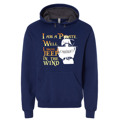 Driving a Jeep in the Wind Pirate Hoodie