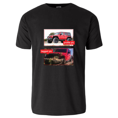 Profile & Tagged Pic Jeep T-Shirt