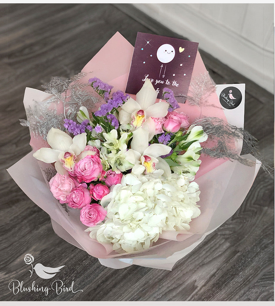 Lush Pink Bouquet with card