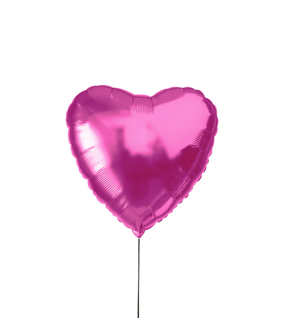 Pink heart helium balloon