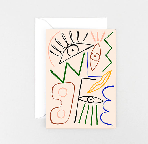 Greetings Card - Abstract 1