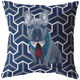 French Bulldog - Geometric Style 3 - Pillow