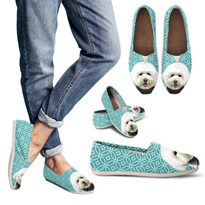 Poodle Casual Shoes Geometric Style 1 - Teal