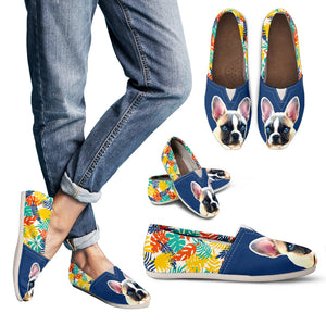 Custom Pet Portrait Casual Shoes - Colourful Leaves Style