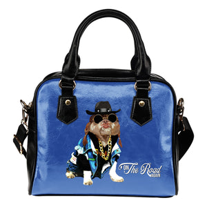 "Shoulder Handbag - Cool Funny Dog ""On The Road Again"""