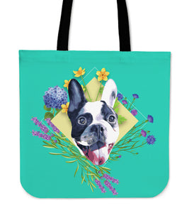 French Bulldog - Spring Flowers Design Tote Bag