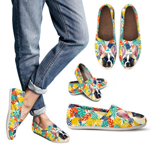French Bulldog Casual Shoes - Colourful Leaves