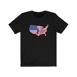 Unisex T-Shirt Patriotic Jack Russell Red Woof Blue - 4th July Independence Day Patriotism
