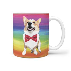 Rainbow Custom Mug Featuring Your Pet