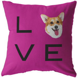 Corgi - LOVE Pillow