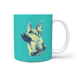 German Shepherd Tri-Tone Design Mug