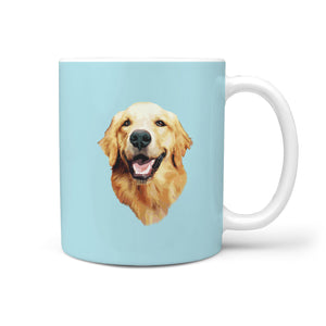 Golden Retriever Face Smiling - Mug