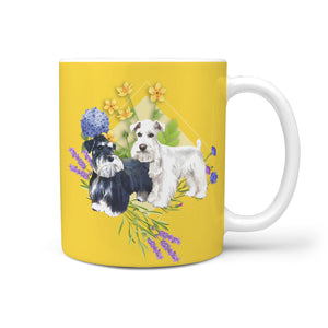 Schnauzers with Spring Flowers Mug