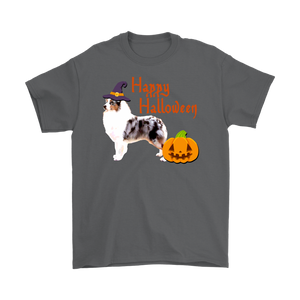 Happy Halloween - Australian Shepherd Witch Pumpkin Unisex T-Shirt
