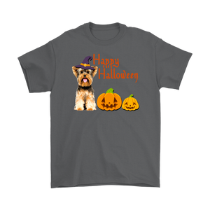 Happy Halloween - Yorkshire Terrier Witch Pumpkin Unisex T-Shirt