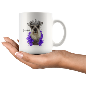 Custom Mug - Diva Queen with Tiara and Feather Boa