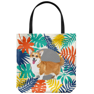 Custom Tote Bag - Colourful Leaves