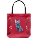 French Bulldog - Floral Design 2 - Tote Bag