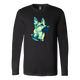 German Shepherd Gazing Tri-Tone Design - Apparels (Raglan, T-Shirt, Long Sleeve, Hoodie, Tank)